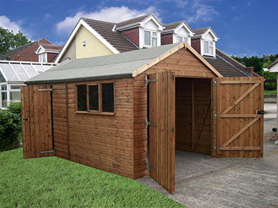 Garden sheds prices in liverpool merseyside and greater for 14x8 garage door