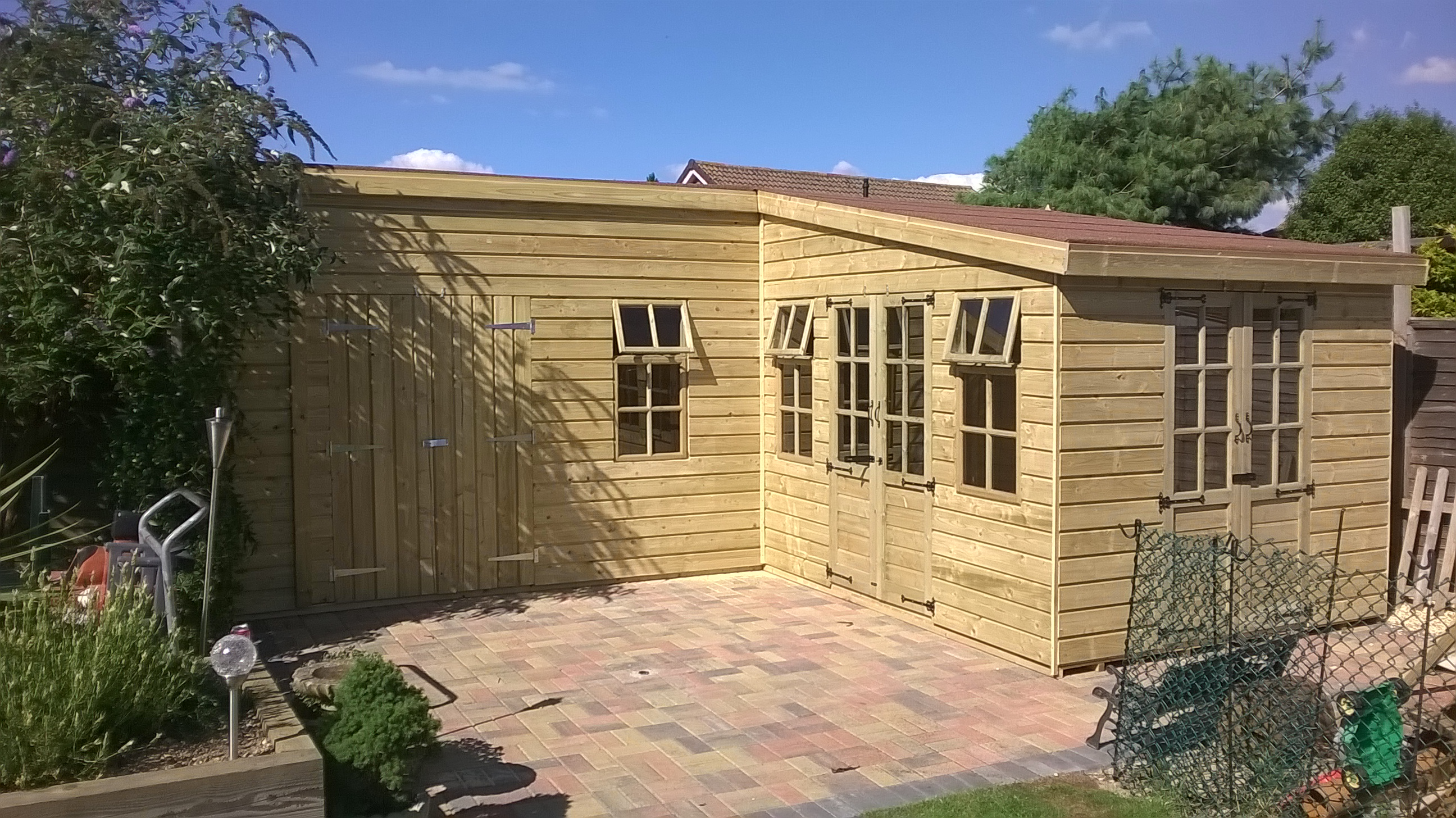 Shed king liverpool sheds timber buildings garden for L shaped shed