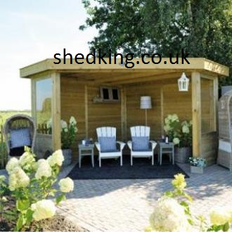 Shed king based in liverpool merseyside timber smoking for Corner garden rooms uk
