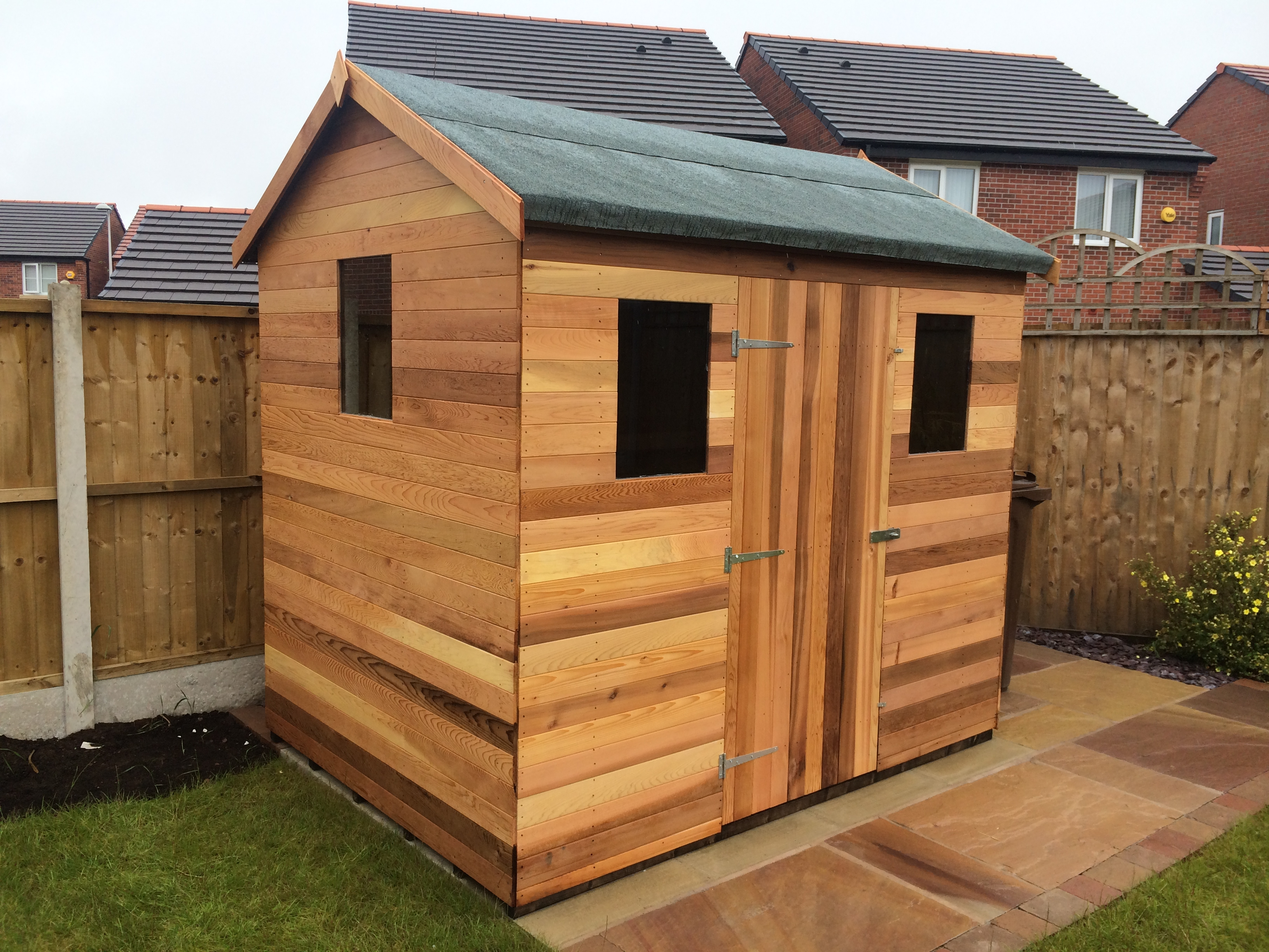 westernred cedar wood garden sheds and summerhouses designer