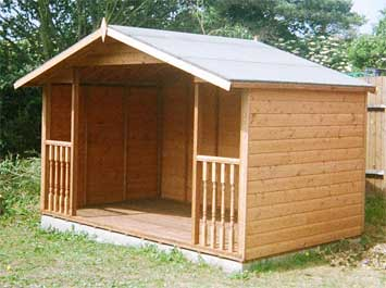 Shed king based in liverpool merseyside timber smoking for Small garden shelter
