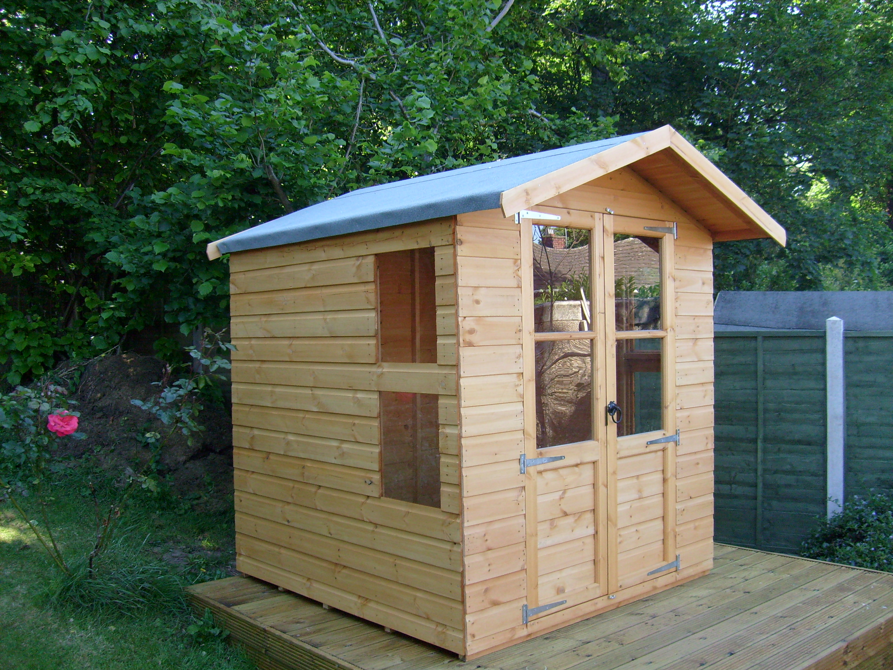 Garden shed 8x6 billyoh 19mm pent log cabin windowless for Garden shed 8x5